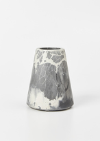 Concrete Cat charcoal / ivory oracle pattern vesta large vase