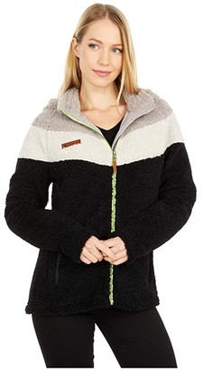 Obermeyer Kai Sherpa Jacket (Black) Women's Clothing