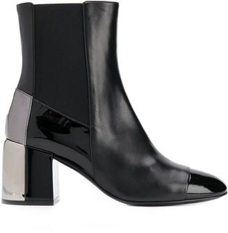 Casadei block heel ankle boots