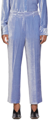 Sies Marjan Blue Corduroy Willa Fluid Cropped Trousers