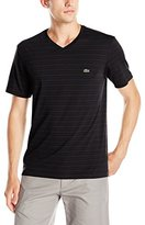 Lacoste Men's Short Sleeve V Neck Stripe T
