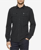 Calvin Klein Jeans Men's Modern Long-Sleeve Military Shirt