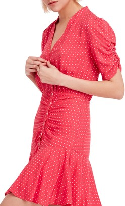 Free People Pippa Polka Dot Print Mini Dress