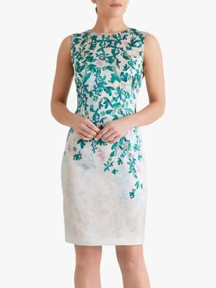 Fenn Wright Manson Petite Virginie Floral Print Midi Dress, Botanical Leaf