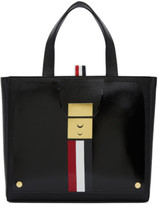 Thom Browne Black Trompe Loeil Mini Mrs. Thom Jr. Tote