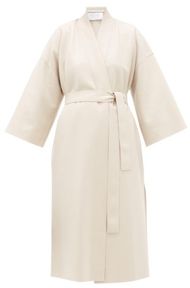 Harris Wharf London Kimono-sleeve Belted Virgin-wool Coat - Cream