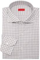 Isaia Windowpane Wool Dress Shirt