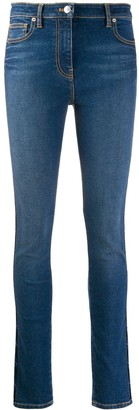Kenzo Embroidered Side Panel Skinny Jeans