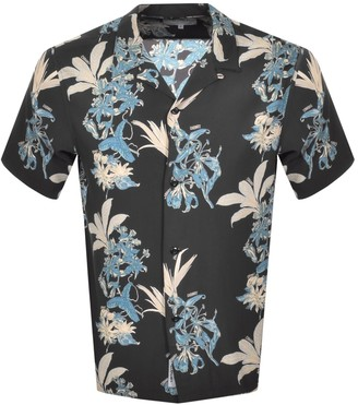 Carhartt Hawaiian Floral Short Sleeve Shirt Black