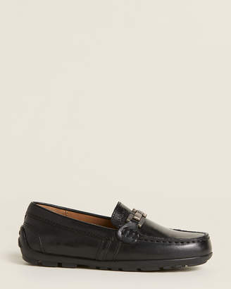 Geox Toddler/Kids Boys) Black Fast Leather Drivers