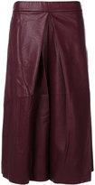 MM6 MAISON MARGIELA faux leather cropped wide leg trousers - women - Cotton/Polyurethane/Viscose - 38