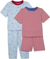 The Little White Company Cotton pyjamas pack of two 1-6 years