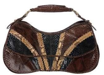 CNC Costume National Snakeskin Handle Bag