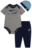 Nike Three-Piece Creeper Bodysuit, Pant and Hat Set