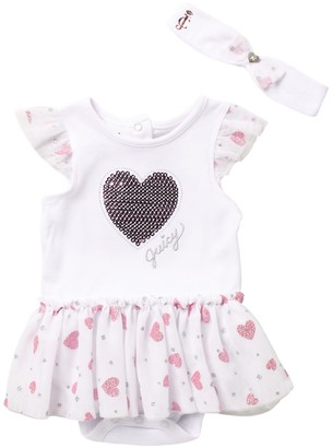 Juicy Couture Suit & Headband Set (Baby Girls 0-9M)
