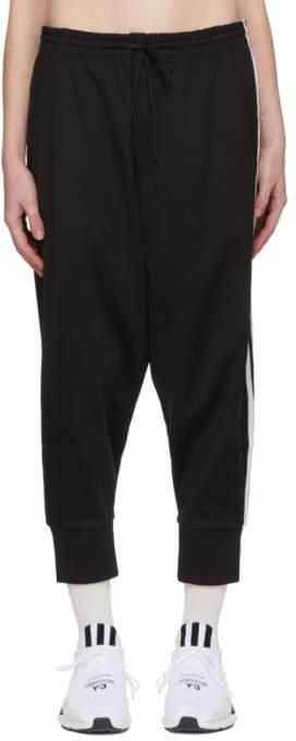 Y-3 Black 3-Stripe Track Pants