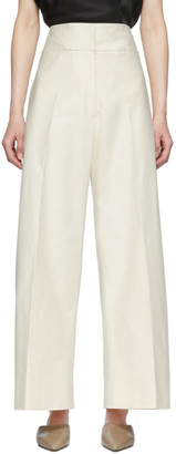 Jil Sander Beige Sailor Trousers