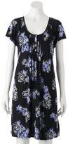 Croft & Barrow Plus Size Pajamas: Midnight Moon Smocked Nightgown