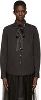 Marc Jacobs Black Tie and Pin Shirt
