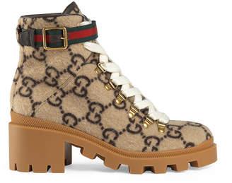 Gucci Trip GG Booties in Beige & Ebony | FWRD