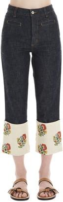 Loewe Cropped Flared Jeans