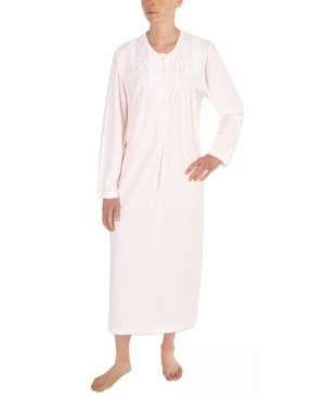 Miss Elaine Honeycomb Pointelle Long Nightgown
