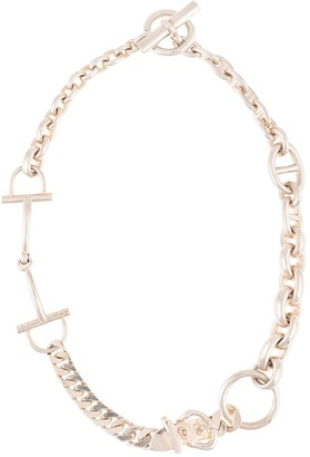 Hermes thick chain link necklace