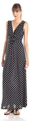 Star Vixen Women's Sleeveless O-Ring Maxi Dress