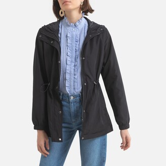 Jacqueline De Yong Zip-Up Hooded Parka
