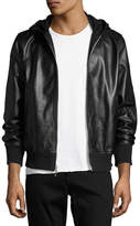 Rag & Bone Men's Christopher Black Leather Hooded Bomber Jacket