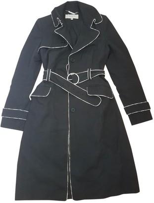 Karen Millen Black Cotton Trench Coat for Women