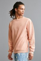 Urban Outfitters Stockton Embroidered Fleece Crew Neck Sweatshirt