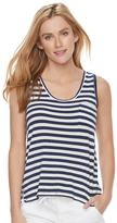 SONOMA Goods for Life Women's SONOMA Goods for LifeTM Striped Scoopneck Tank