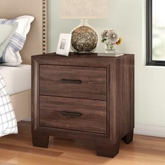 Three Posts Casa 2 Drawer Nightstand in Medium Warm Brown