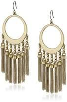 Lucky Brand Gold Major Fringe Earrings