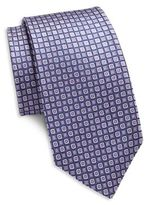 Saks Fifth Avenue Abstract Dotted Silk Tie