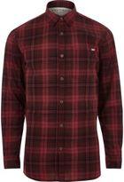 River Island MensRed Jack & Jones Vintage casual check shirt