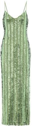 Galvan Stargaze sequined slip dress