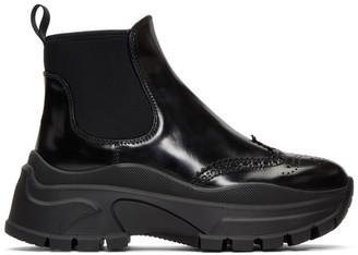 Prada Black Chunky Sole Chelsea Boots