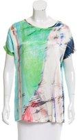 Tess Giberson Silk Short Sleeve Top