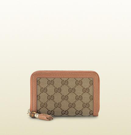 Gucci original GG canvas zip around wallet