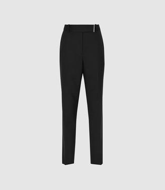 Reiss Arlo - Wool Blend Tailored Trousers in Black