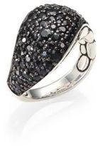 John Hardy Kali Black Sapphire & Sterling Silver Lava Ring