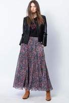 Zadig & Voltaire Joyo Long Print Mandala Skirt