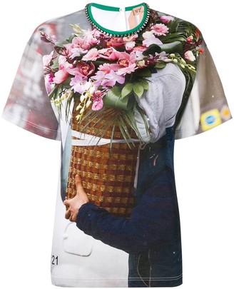 No.21 Floral Print Blouse