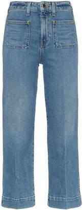 KHAITE Raquel cotton-blend patch pocket jeans