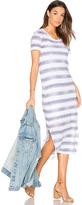 Stateside Linen Jersey T Shirt Midi Dress