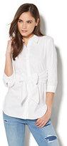 New York & Co. 7th Avenue - Madison Stretch Shirt - Tie-Waist - White