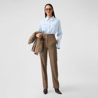 Burberry Sash Detail Jersey Oversized Shirt