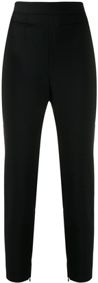 Alexander McQueen High-Rise Slim-Fit Trousers